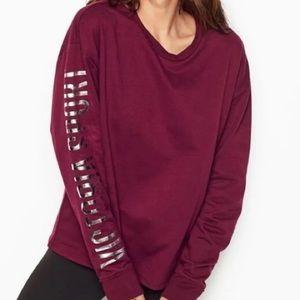 Victoria's Secret sleeve logo sweatshirt